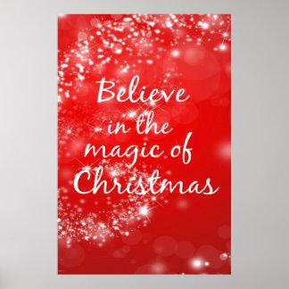 Glauben Sie an die Magie von Weihnachten 24x36 Poster