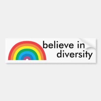 glauben Sie an Diversity Autoaufkleber
