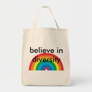 glauben Sie an Diversity Tragetasche