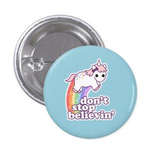 Glauben Sie an Einhörner Runder Button 2,5 Cm
