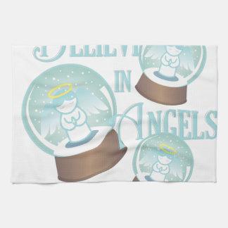 Glauben Sie an Engel Handtuch