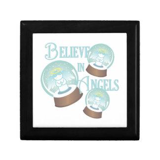 Glauben Sie an Engel Schmuckschachtel