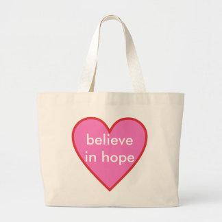 glauben Sie an Hoffnung Jumbo Stoffbeutel