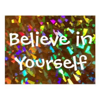 Glauben Sie an selbst funkelnd Postkarte