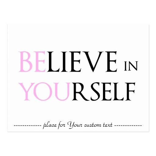 Glauben Sie an selbst - sind Sie Motivationszitat Postkarten