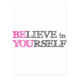 Glauben Sie an selbst - SIND SIE Postkarten