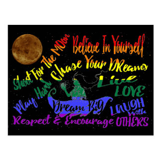Glauben Sie an selbst TraumLiebe, die Respekt Postkarte