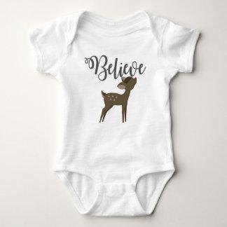 Glauben Sie Baby-Ren-Rudolph-Einteiler-Ausstattung Baby Strampler