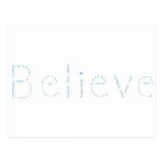Glauben Sie - Blau - Januars wow Postkarte