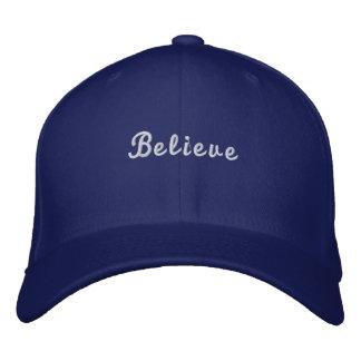 Glauben Sie Buchstabeberuf Baseball-Mützen Bestickte Kappe