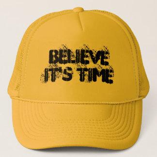 """""""Glauben Sie, dass es Zeit-"""" Fernlastfahrer-Hut Truckerkappe"""