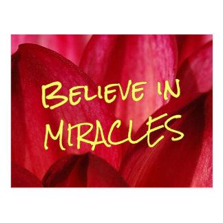 Glauben Sie, dass Sie Wunder geschehen lassen Postkarte
