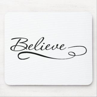 Glauben Sie den motivierend, Inspirational Mauspads