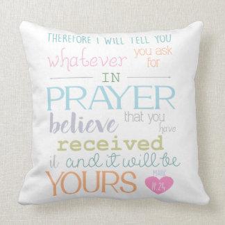 glauben Sie Gebetskennzeichen 11-24 Kissen