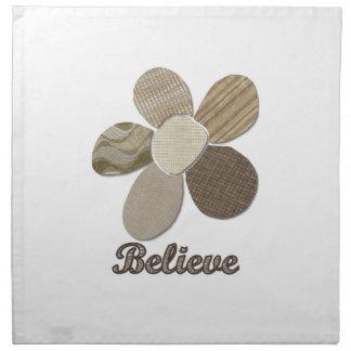 GLAUBEN Sie Gewebe-Blumen-Collage Stoffserviette