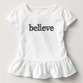 Glauben Sie Kleinkind-Rüsche-T-Shirt Kleinkind T-shirt