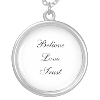 Glauben Sie Liebe-Vertrauen Versilberte Kette