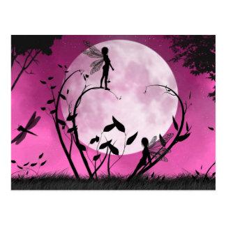 Glauben Sie Mondscheinfee Postkarte