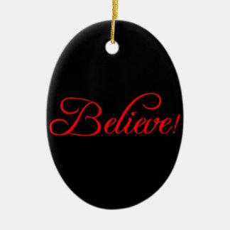 Glauben Sie! .png Ovales Keramik Ornament