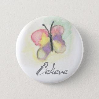 Glauben Sie Schmetterlings-inspirierend Knopf Runder Button 5,7 Cm