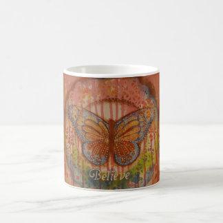 Glauben Sie Schmetterlings-Tasse Tasse