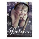 Glauben Sie Schneeflocke-| gefalteter Feiertags-Gr Grußkarten