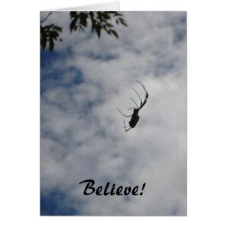 Glauben Sie! - Spinne notecard Karte