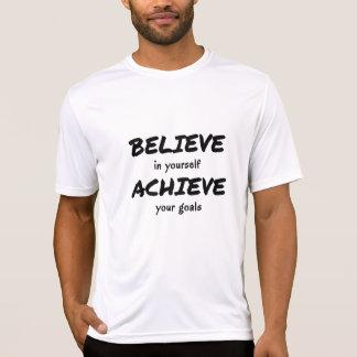 Glauben Sie, um motivierend Textsport zu erzielen T-Shirt