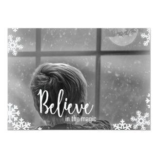Glauben Sie Weihnachtskarte der Schneeflocke-1Foto Karte
