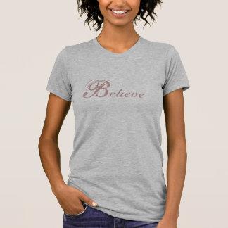 Glauben Sie zierlichem T-Stück T-Shirt