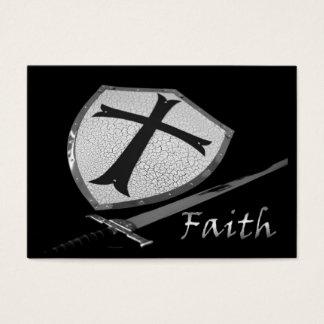 Glaubenklinge und Schild ACEO Visitenkarte