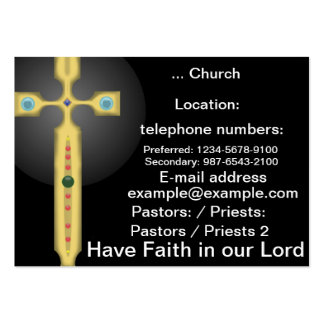 Glaubenquerkarte Jumbo-Visitenkarten