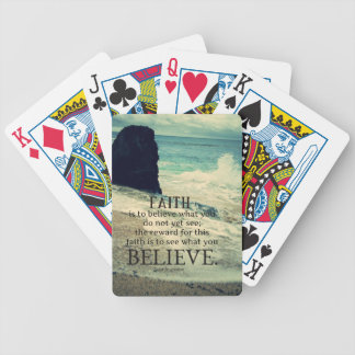 Glaubenzitatstrand-Ozeanwelle Bicycle Spielkarten