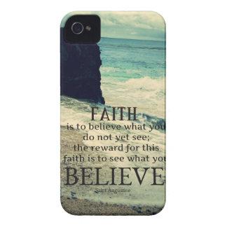 Glaubenzitatstrand-Ozeanwelle Case-Mate iPhone 4 Hülle