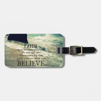 Glaubenzitatstrand-Ozeanwelle Kofferanhänger