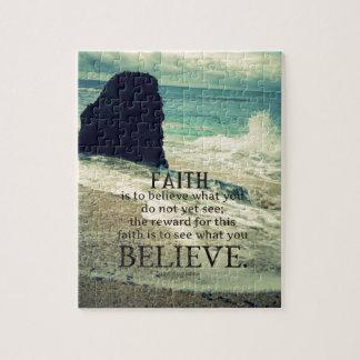 Glaubenzitatstrand-Ozeanwelle Puzzle