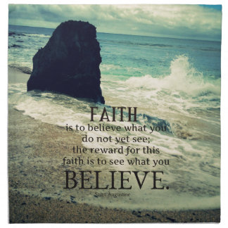 Glaubenzitatstrand-Ozeanwelle Serviette