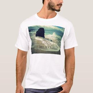 Glaubenzitatstrand-Ozeanwelle T-Shirt