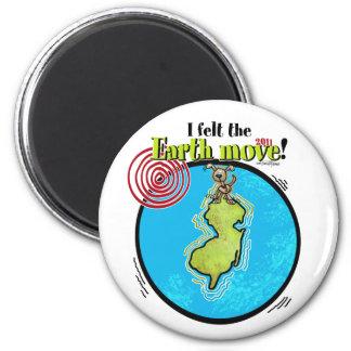 Glaubte der Erde, in NJ 2011 sich zu bewegen Runder Magnet 5,7 Cm