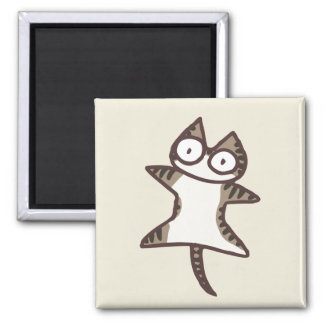 Glay Tabby-Katze Quadratischer Magnet