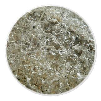 Glazial- Eis-abstrakte Natur Texturentwurf Keramikknauf
