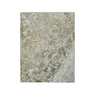 Glazial- Eis-abstrakte Natur Texturentwurf Notizblock
