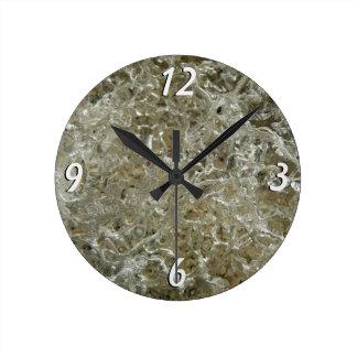 Glazial- Eis-abstrakte Natur Texturentwurf Runde Wanduhr