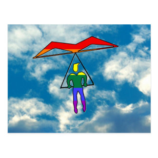 GLBT Fall-Segelflugzeug Postkarte