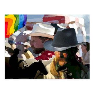 GLBT Rodeo-Stolz Postkarte