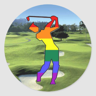 GLBT Stolz-Golf Runder Aufkleber