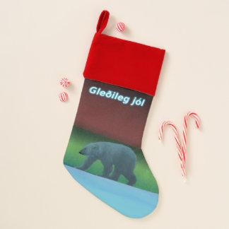 Gleðileg jól - Polarlicht-Eisbär Weihnachtsstrumpf