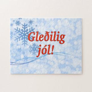 Gleðilig jól! Frohe Weihnachten in Faröerrf Puzzle