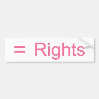 Gleiche Rechte Autoaufkleber