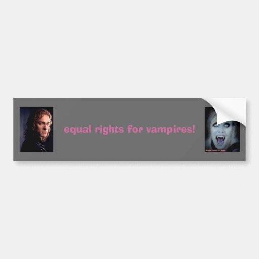 gleiche Rechte für Vampire! Autosticker